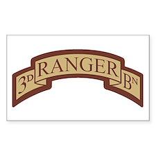 3rd Ranger Bn Scroll Desert Rectangle Decal