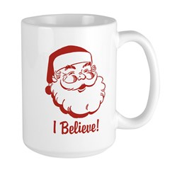I Believe Santa Claus Large Mug
