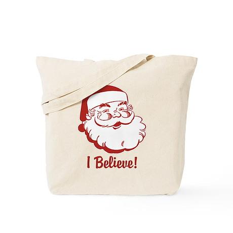 I Believe Santa Claus Tote Bag
