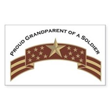Proud Grandparent of a Soldier Rectangle Decal