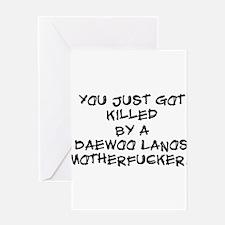 Killer Daewoo Greeting Card