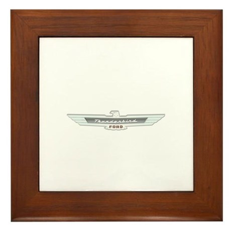 Ford Thunderbird Emblem Chrome Framed Tile