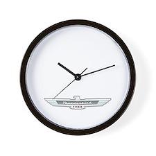 Ford Thunderbird Emblem Chrome Wall Clock