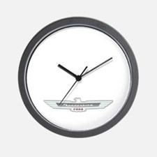 Ford Thunderbird Emblem Chrome Wall Clock