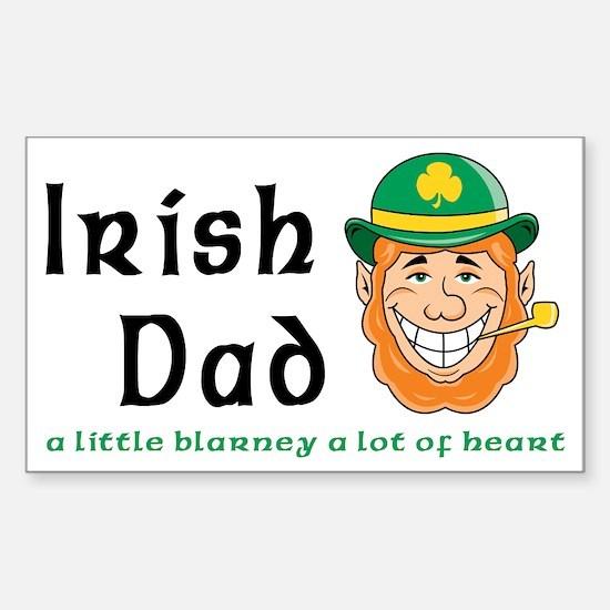 Irish Dad Rectangle Decal
