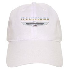 Ford Thunderbird Emblem Orange Chrome Baseball Cap