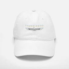Ford Thunderbird Emblem Orange Chrome Cap