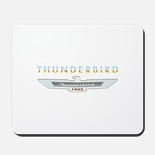 Ford Thunderbird Emblem Orange Chrome Mousepad