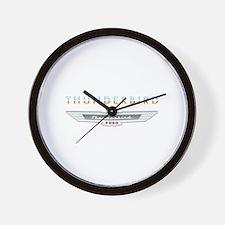 Ford Thunderbird Emblem Orange Chrome Wall Clock