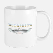 Ford Thunderbird Emblem Orange Chrome Mug