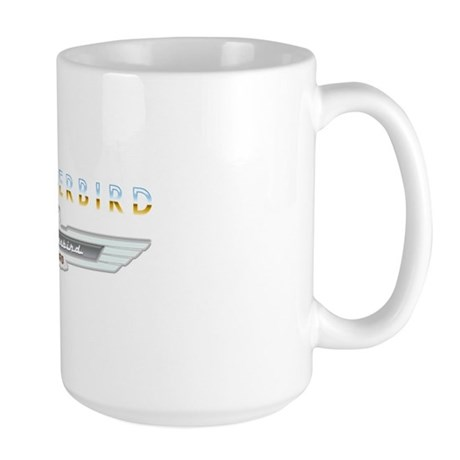 Ford Thunderbird Emblem Orange Chrome Large Mug