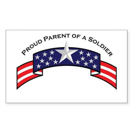 Proud Parent of a Soldier Rectangle Sticker