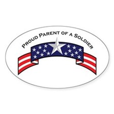 Proud Parent of a Soldier Oval Decal