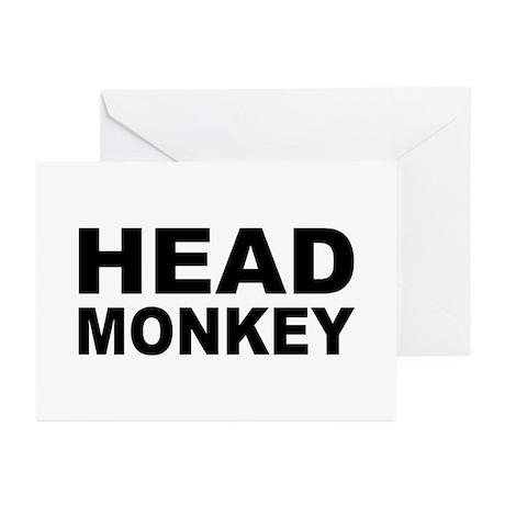 Head Monkey - Greeting Cards (Pk of 20)