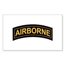 Airborne Tab Black and Gold Rectangle Decal