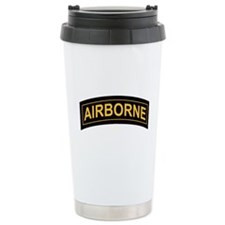 Airborne Tab Black and Gold Travel Mug
