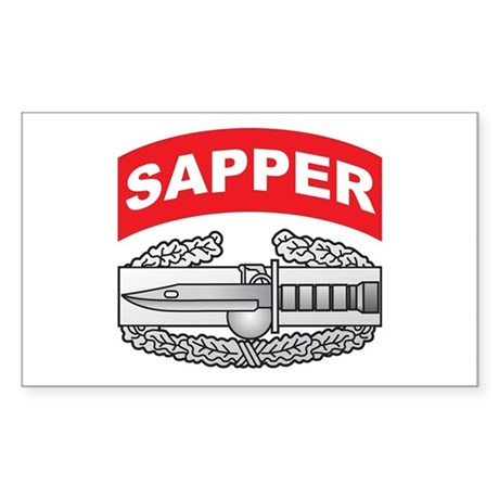CAB with Sapper Tab Rectangle Sticker