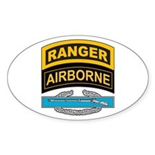 CIB with Ranger/Airborne Tab Oval Decal