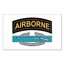 CIB with Airborne Tab Rectangle Decal