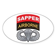 Sapper/Airborne Tab Basic Air Oval Decal