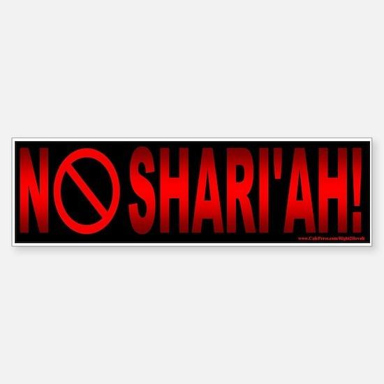 NO Shari'ah (sticker)