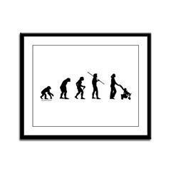 Mom Evolution Framed Panel Print