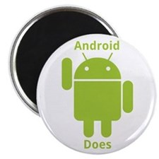 """Droid Does Google Android 2.25"""" Magnet (100 p"""