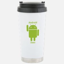 Droid Does Google Android Travel Mug