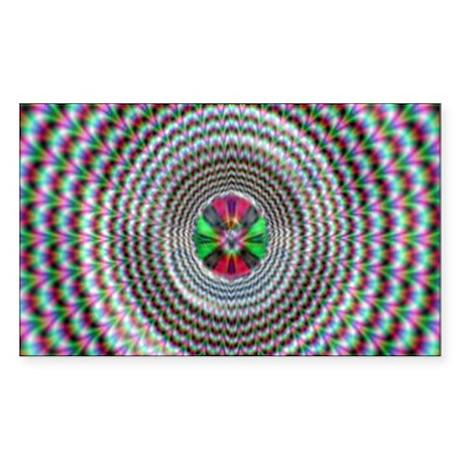 Pulsing Vortex Optical Illusi Rectangle Sticker