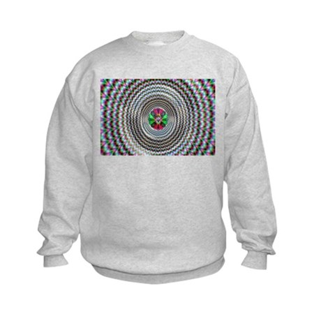 Pulsing Vortex Optical Illusi Kids Sweatshirt