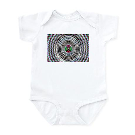 Pulsing Vortex Optical Illusi Infant Bodysuit