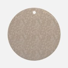Tan Cement Look Ornament (Round)