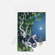 White Dragon Greeting Card