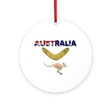 Australia Boomerang Ornament (Round)
