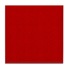 Red Linen Look Tile Coaster