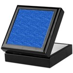 Textured Light Blue Look Keepsake Box