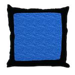 Textured Light Blue Look Throw Pillow