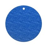 Textured Light Blue Look Ornament (Round)