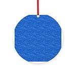 Textured Light Blue Look Ornament (Round)