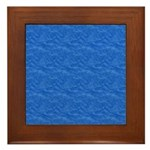 Textured Light Blue Look Framed Tile
