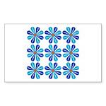 Rectangle Sticker: Flower Power