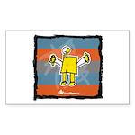 Rectangle Sticker: Picasso Kid
