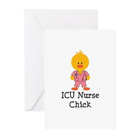 ICU Nurse Chick Greeting Cards (Pk of 10)