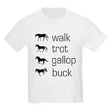 WalkTrotGallopBuck black T-Shirt
