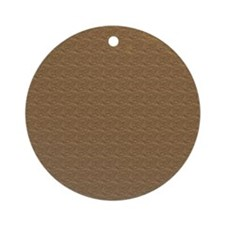 Textured Brown Look Ornament (Round)