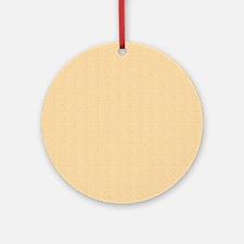 Tan Satin Look Ornament (Round)