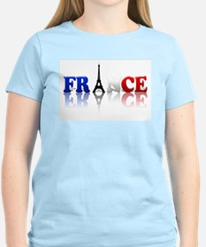 France Tricolore and Eiffel T T-Shirt