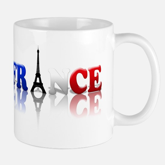 France Tricolore and Eiffel T Mug