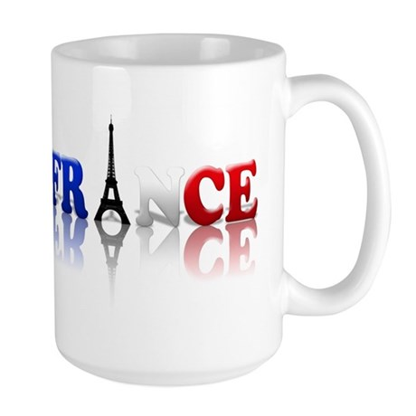 France Tricolore and Eiffel T Large Mug