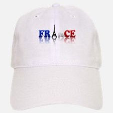 France Tricolore and Eiffel T Baseball Baseball Cap